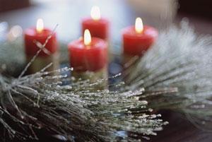 Lilin dengan haruman kulit kayu manis